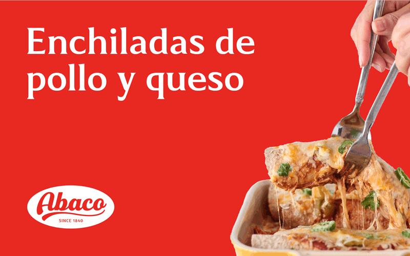 enchiladas de pollo y queso